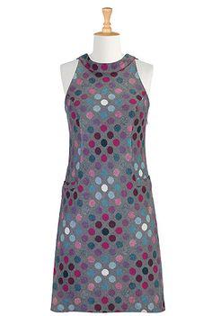 Mod dots dress - from eShakti