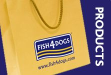 100% natural fish-based dog food and treats. Buy online at www.fish4dogs.com