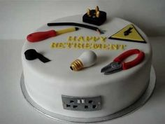 electrician retirement cake