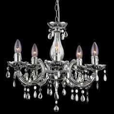 Kronleuchter Sarah 5 Kerzen Klassisch Kristall , Globo, Kronleuchterhaus - 1…