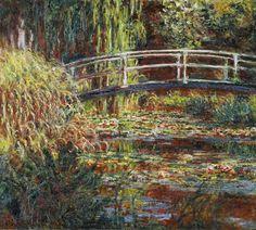 Claude Monet - Waterlily pond and Japanese bridge (harmony in pin