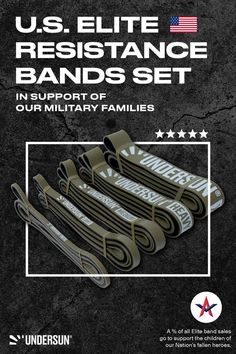 Undersun Elite Bands were created as a way to give back to our military families. A portion of the proceeds from all Elite Band sales goes to support Active Valor, a 501(c)(3) non-profit foundation created by a former NAVY SEAL, that provides mentorship to the children of our nation's fallen heroes. When you purchase a set of Undersun Elite Bands, you're making a direct impact in the lives of these Gold Star Children. Build Muscle, Muscle Building, All Band, Star Children, Fallen Heroes, Resistance Band Exercises, Lose Body Fat, Navy Seals, Going To The Gym