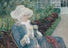 Mary Cassatt - Lydia Crocheting in the Garden at Marly, 1880