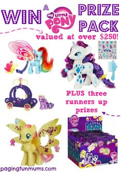 Click now for your chance to WIN some AWESOME My Little Pony Prize Packs!