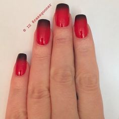 Instagram media by cassgooner - So my amazing boyfriend bought me the Christian Louboutin nail polish for Christmas which I used for a gradient with black. Perfect Polish ❤️