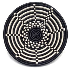Rwandan Plateau Basket - World Folk Art - Find Stained Gourds, Metal Wall Hangings, and more