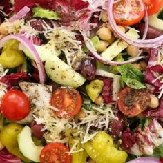 This Italian Chopped Salad rivals any Italian restaurant chopped salad there is.  It's a busy salad, loaded with a variety of ingredients to hold your attention.  The Italian vinaigrette makes this salad completely addicting! This Italian Chopped Salad is a quintessential chopped salad that's loaded with flavor and a delicious combo of ingredients.  It's great …