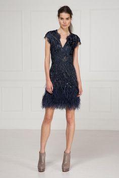 matthew williamson resort '13: lace + feather trim