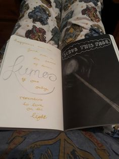Harry Potter inspired page of my wreck this journal. Scrub at this page, lumos spell.