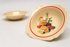 vintage decal dishware  | ... Bowl with Mexicana Decals and Red Stripes from vintagefiestaware.com