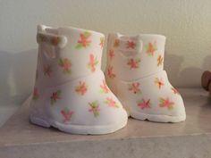 Baby Rain Boots Cake Topper Fondant