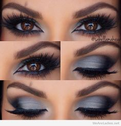 grey eye shadow
