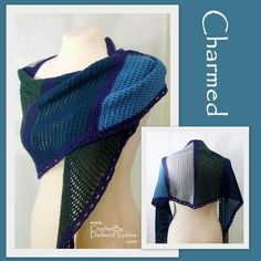 (4) Name: 'Crocheting : Charmed Shawl, Scarf or Shawlette