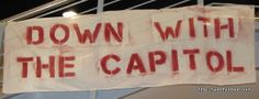 Hunger Games Down with the Capitol banner. I need to make one of these.