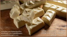 White Chocolate Bars Filled With White Chocolate Ganache Tutorial White Chocolate Ganache, Chocolate Bars, Chocolate Recipes, Torte Recipe, Ganache Recipe, Baking Basics, Cupcakes, Best Food Ever, How To Make Chocolate