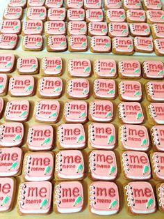 女子のキレイをつくるメモアプリ mememo様ロゴアイコン型クッキー