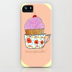 Teacupcake! iPhone Case by Bouffants and Broken Hearts - $35.00