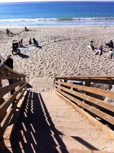 View from the stairs on Calafia Beach (San Clemente, California Travel)