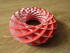 Torus made from paper.
