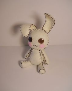 felt button eyes bunny doll