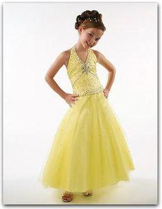 5a2d40bde Silhouette: Ball Gown Neckline: Halter Sleeve Length: Sleeveless Waist:  Dropped Hemline: Ankle Length Back Detail: Lace Up Embellishment: Beading  Fabric: ...