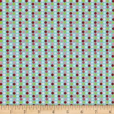 Riley Blake Christmas Basics Dot Blue from @fabricdotcom  Designed by RBD Designers for Riley Blake, this cotton print is perfect for quilting, apparel and home decor accents.  Colors include green, red, shades of pink and shades of blue.