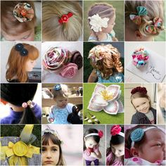 25 ways to make hair clips