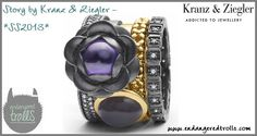Story by Kranz & Ziegler  Stacked ring with oversized  gems