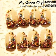 Aliexpress.com : Buy H 015 vintage beauty false nail bride nail art patch from Reliable nail art brush suppliers on Jessie's shop. $4.95