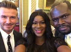 welcome to Naijagrace blog.                                                                 : Photos: Stephanie Linus and hubby meet David Beckh...