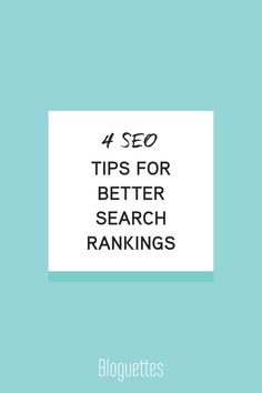 SEO Tips #bloguettes