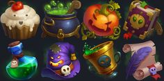 Nice icon style: lots of round forms overlapping each other. Game Ui Design, Prop Design, Game Concept, Concept Art, Pumpkin Games, Casual Art, 2d Game Art, Game Props, Game Icon
