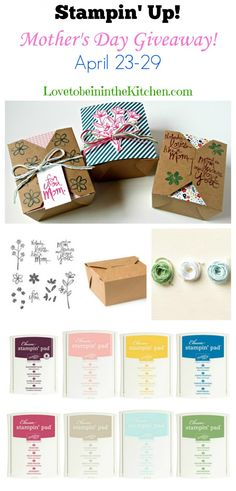 Stampin' Up! Mother's Day Giveaway Only 1 more day to enter! #giveaway