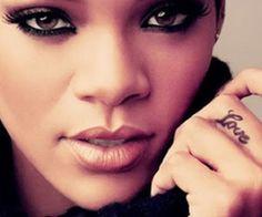 Rihanna finger tattoo