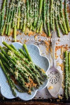 Parmesan Roasted Asparagus is a super quick, 15 minute, vegetable side dish recipe that everyone loves!