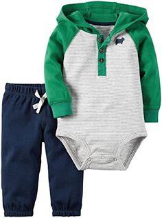 Carter's Baby Boys Bodysuit Pant Sets 121g842, Green, NB