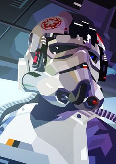 AT-AT Driver, an art print by Liam Brazier