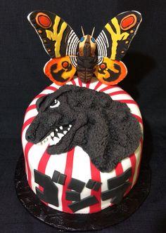 Godzilla vs Mothra Cake!