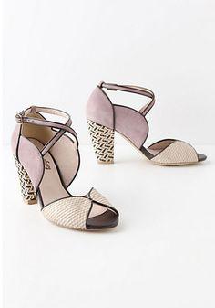 Mixed Media Heels | Green Wedding Shoes Wedding Blog | Wedding Trends for Stylish + Creative Brides