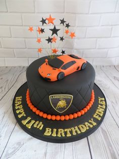 Car Birthday Cakes, Birthday Cake For Husband, Superhero Birthday Cake, Birthday Cakes For Teens, Corvette Cake, Lamborghini Cake, Cars Cake Design, Car Cakes For Boys, 40th Cake