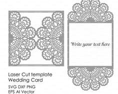 Wedding invitation Card 5x7 Template iron door por EasyCutPrintPD