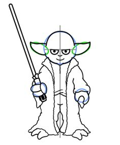 How to draw Yoda from Star Wars - completing the drawing