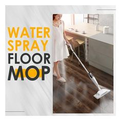 This revolutionary spray mop is all you need to remove stubborn spots and dirt, leaving your floors crystal clear and shiny. Use it to safely and effectively dust or thoroughly clean all types of floors without worrying about causing damage. With this spray mop, no residue, no harm to your hands, and no more moisture on the floor. Use it for all sensitive floors.