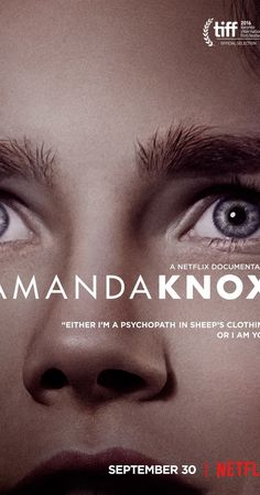 Directed by Rod Blackhurst, Brian McGinn. With Amanda Knox, Meredith Kercher, Raffaele Sollecito, Giuliano Mignini. American exchange student Amanda Knox is convicted and eventually acquitted for the 2007 death of another student in Italy. Meredith Kercher, Anderson Cooper, Best Documentaries, Movies 2019, Psychopath, Documentary Film, Film Movie, Amanda, Tv Shows