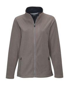 Women's Brushed Back Fleece Jacket (100% Polyester). Tri mountain 7815 #zipper #fleece #jacket #comfy