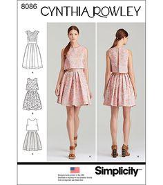 Simplicity Patterns US8086P5 Dresses-12-14-16-18-20