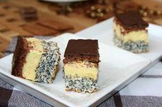 Prajitura Tosca Sweets Recipes, Cake Recipes, Poppy Cake, Vanilla Cream, Food Cakes, Mini Cakes, Original Recipe, Cooking Time, Biscuit