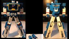 A transforming Soundwave LEGO set.