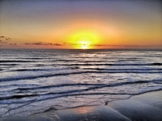 Winter sunset over the Pacific Ocean: Carlsbad State Beach