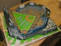 https://flic.kr/p/65947v | Baseball Stadium Cake | Made on 2ft x 2ft board. Served at least 100.